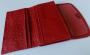 Piros marhabőr női pénztárca, dupla rekeszekkel
