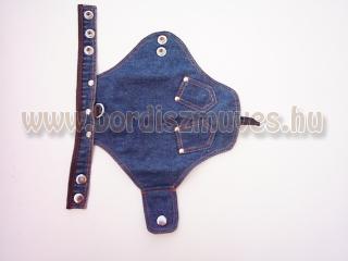 Farmeranyagból, szögecses díszítéssel, tépőzárral készült kutyaöltözet, SugoDog®