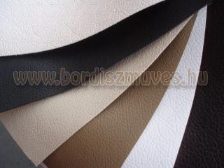 Fehér, fekete, szürke, barna színű textilbőr alapanyag egyszerű nyomott mintával