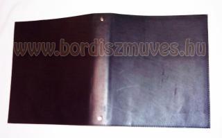 Vágott szélű, 20x23 cm irattartó mappa, bőrmappa, bőrdosszié bőr irattartó mappa