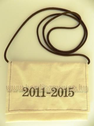 Hímzett ballagó, ballagási tarisznya, 2011-2015