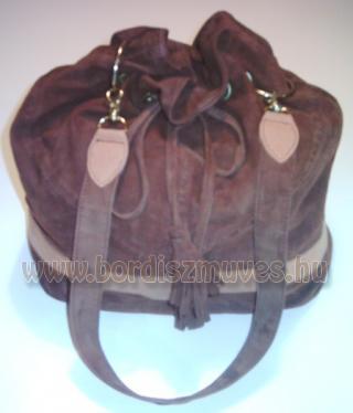 Hasított bőr női divattáska, kézitáska, Női táska, bélelve, ringlizve, cipzáros