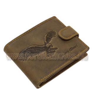 Bőr pénztárca SAS motívummal barna