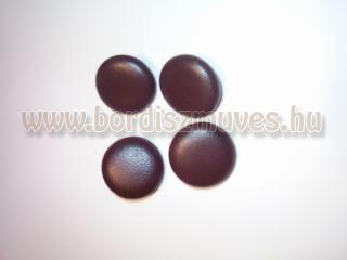 Barna, fekete bőrgombok, több méretben