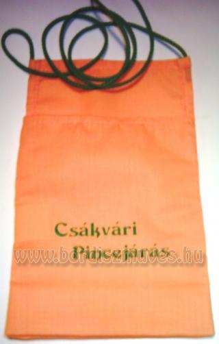 Nyakba akasztható vászon borospohár tartó zsák, tasak, tarisznya gyártása