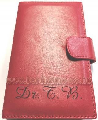 Monogramos egyedi bőr orvosi recepttartó