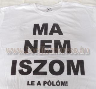 Egyedi nyomott, feliratos póló