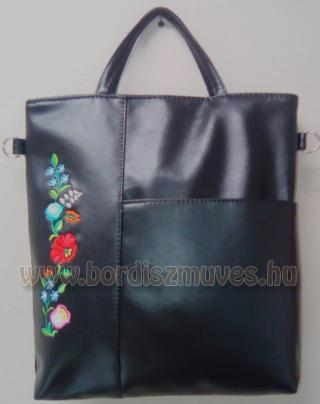 Hímzett kalocsai textilbőr női táska