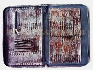 Kígyőbőr nyomású, A/4 es irattartó mappa, bőrmappa, bőrdosszié, bőr irattartó