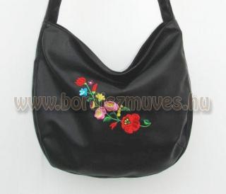 Kalocsai hímzéssel díszített női táska, kalocsai mintás női táska, egyedi, vállt