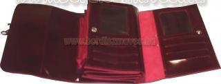 Egyedi, lakkbőr brifkó, 2 in 1, briftasni belső rész, kallantyúval, kártyatartó