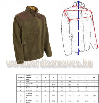 M-TRAMP SUPERSOFT FLEECE DZSEKI, M - Tramp polár pulóver hosszú ujjú, vadászokna