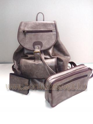 Marhabőr hátizsák táska pénztárca
