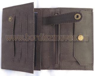 Marhabőr pénztárca belső rész, kihajtható tartóval