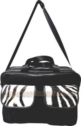 Férfi marhabőr táska zebra bőr rátéttel