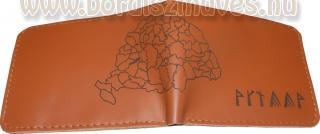 Férfi pénztárca nagy Magyarország térképpel