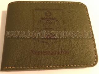 Nemesnádudvar község címeres bőr pénztárca