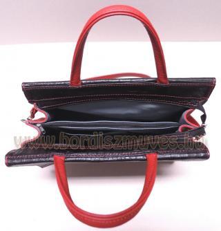 Egyedi női marhabőr kézi táska, rövid és hosszú fogóval (füllel), belső rész