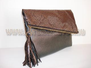 Vehrdesing, női táska, kézitáska, divattáska,  barna - világos barna nyomott