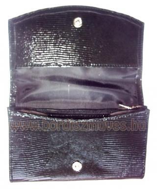 Gyíkbőr jellegű bőrből készített női pénztárca, jól pakolható