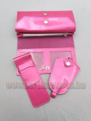 Női pénztárca tolltartó kulcstartó