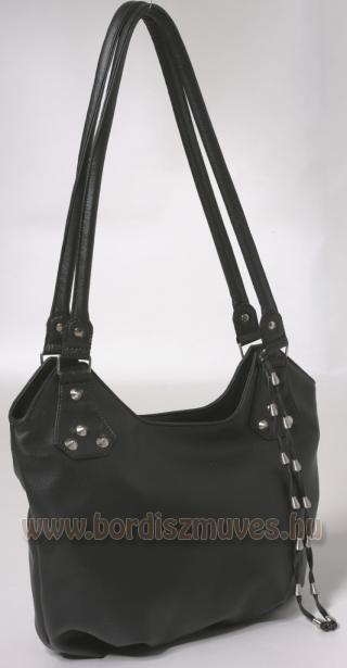 Vehrdesign®,  fekete textilbőr  női divattáska