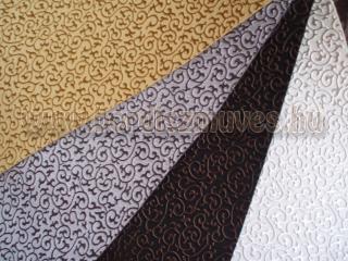 Textilbőr arany, ezüst, fekete, fehér színben, nyomott dombornyomásos mintával