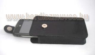 Iphone tartó bőr tok, egyedi, mágneszárral