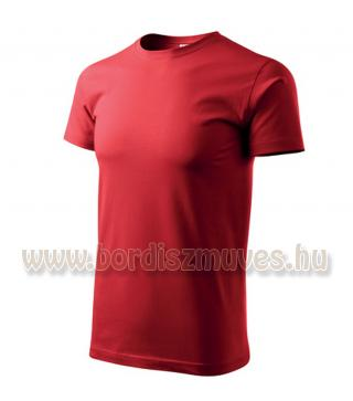 Piros kereknyakú póló, akár EXTRA, XXXXXL 5 XL méretben is, igény esetén postázz