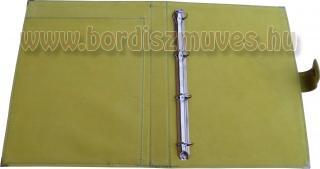 Pisztácia színű marhabőr irattartó mappa belső