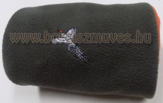 Polár sál fácán hímzéssel jól láthatósági béléssel
