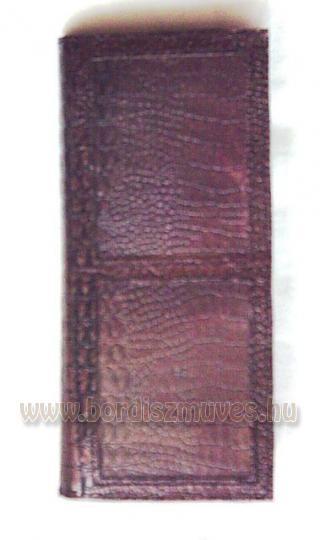 Egyedi belső rész, kézzel készített, sok rekeszes, A/4 es, valódi bőrtárca