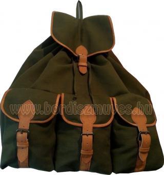 Vadász hátizsák, zöld ponyvából, nagy méretben Jagdtasche