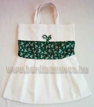 Nagymama táskája,  natúr molinóból és nyomott vászonból készült táska