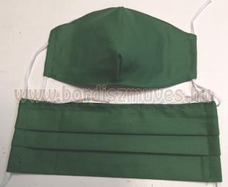 Zöld színű textil  szájmaszk védő maszk
