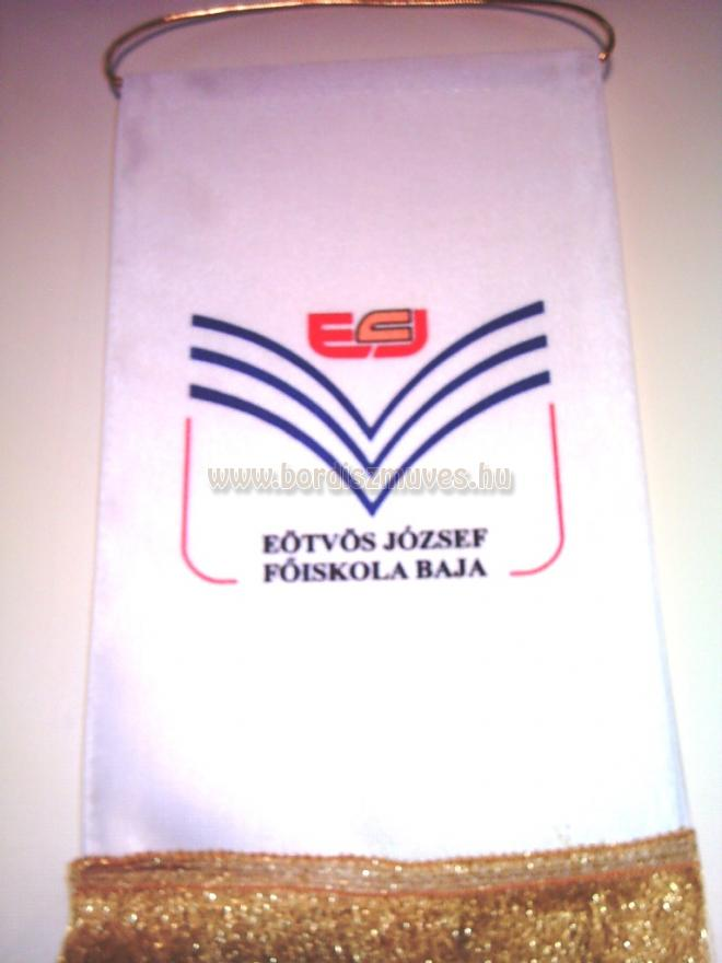Egyedi selyemszatén asztali zászló, EJF logós asztali zászló