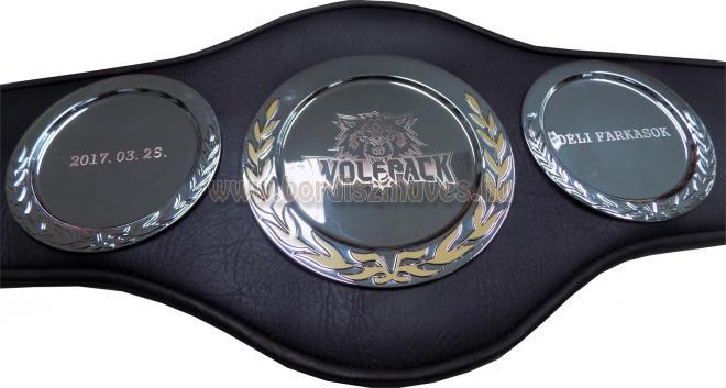Box bajnoki öv fém tányérokkal