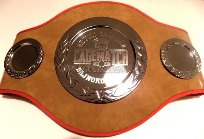 Box, vagy egyéb küzdősport bajnoki öv gyártás, készítés műbőrből, egyedi igény