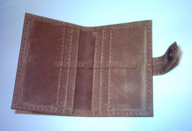 Bankkártya tartó bőr tok belső