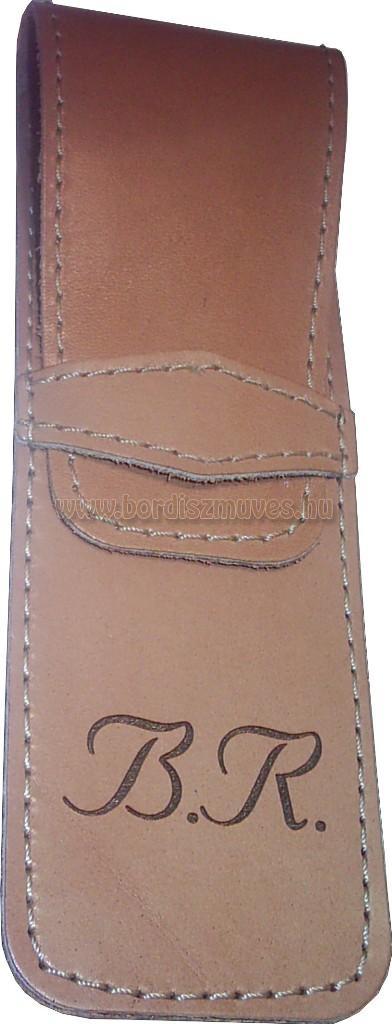 Egyedi, marhabőr tolltartó BR monogrammal