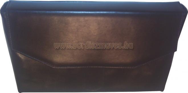 Fekete marhabőr boríték táska, mappa, irattartó
