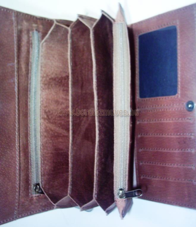 Extra, egyedi marhabőr brifkó belső, kártyatartóval