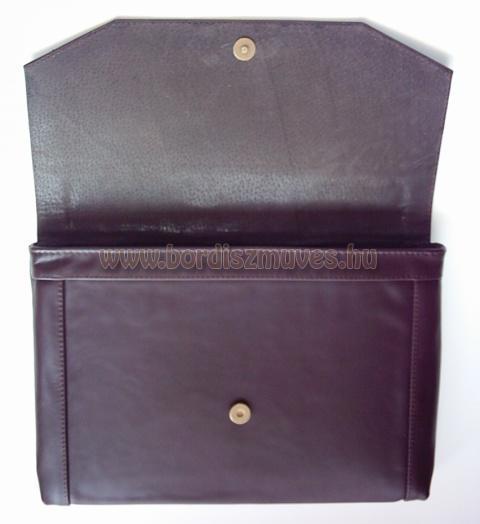Fedeles marhabőr irattartó mappa, iratrendező mappa, fekete vászon béléssel