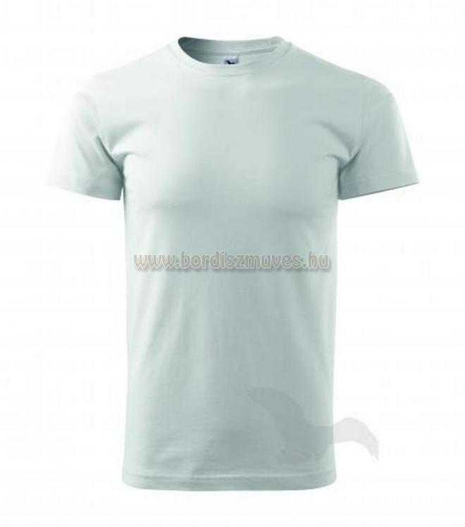 Fehér kereknyakú póló, akár XXXXXL 5 XL méretben is, EXTRA méretben, igény eseté