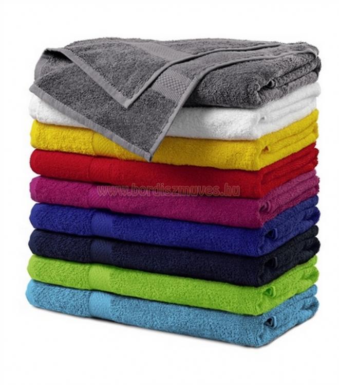 Fürdőlepedő frottír törölköző színes és fehér