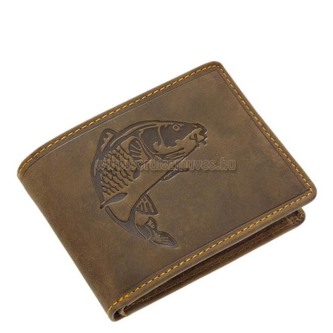 Barna bőr horgász pénztárca