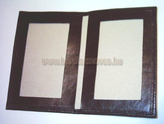 Fekete színű, sertésbőr igazolvány tartó, kártyatartó, belső rész