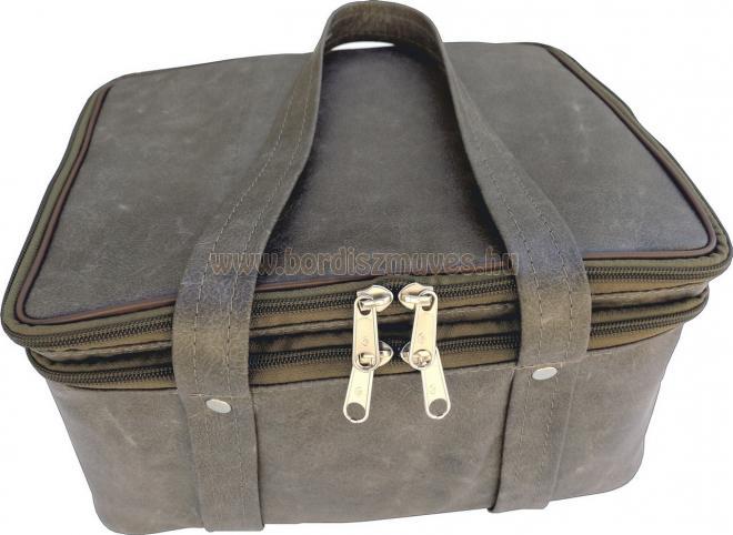 Üzletkötői táska ital árusnak külső rész, 21 belső rekesz, laptoptartó válltáska