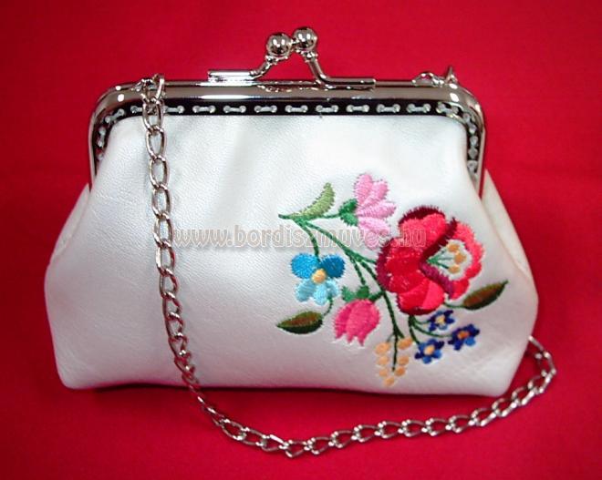 Menyasszonynak, keretes kalocsai női kis táska