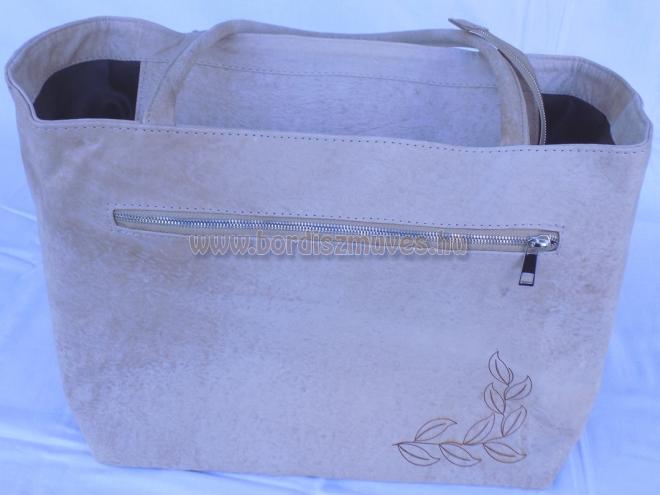 Kecskebőr, valódi bőr, női váll táska, kézi táska, nagy méretű, pakolós